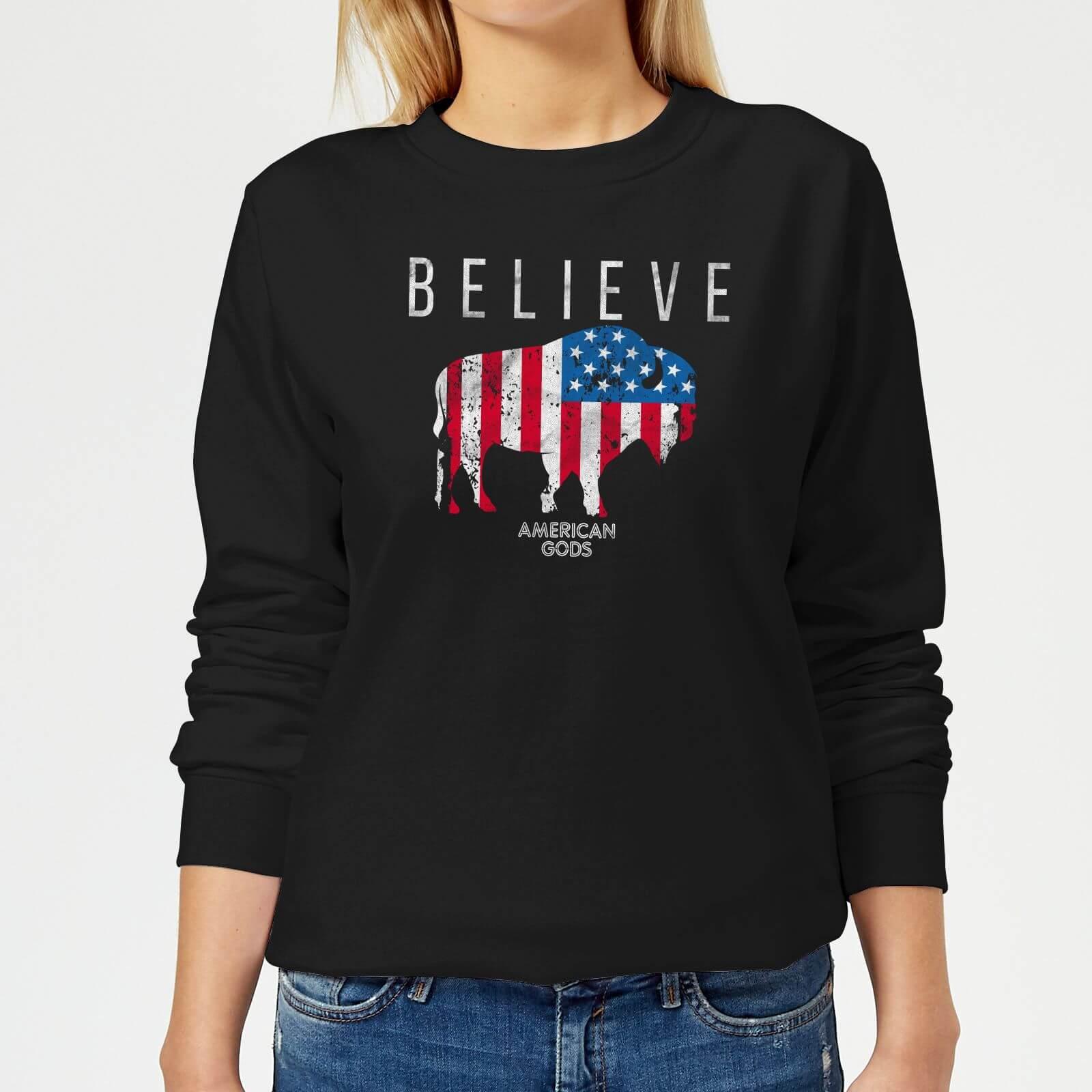 American Gods Believe In Bull Women's Sweatshirt - Black - XXL - Black