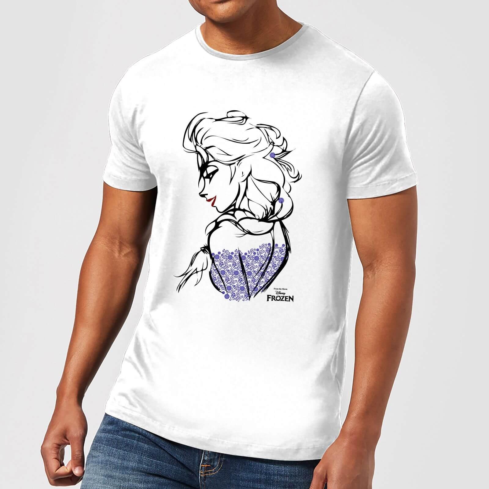 Disney Disney Frozen Elsa Sketch Men's T-Shirt - White - 5XL - White