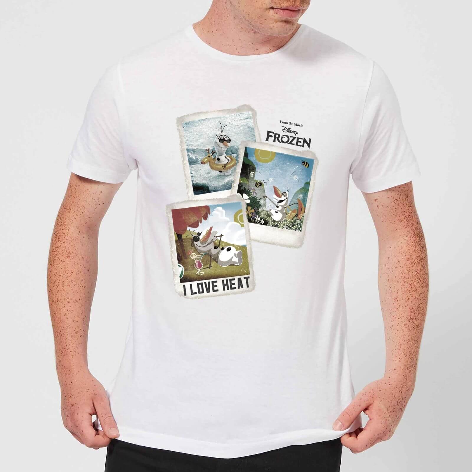 Disney Disney Frozen Olaf Polaroid Men's T-Shirt - White - 4XL - White