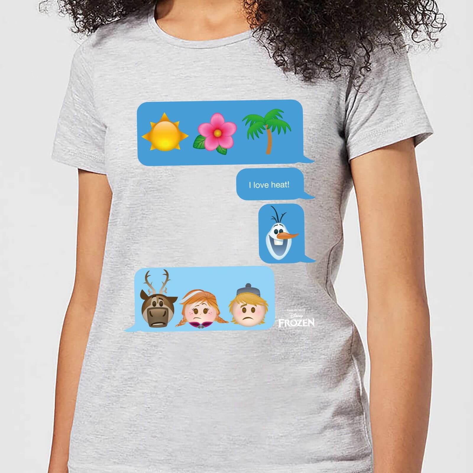 Disney Frozen I Love Heat Emoji Women's T-Shirt - Grey - M - Grey