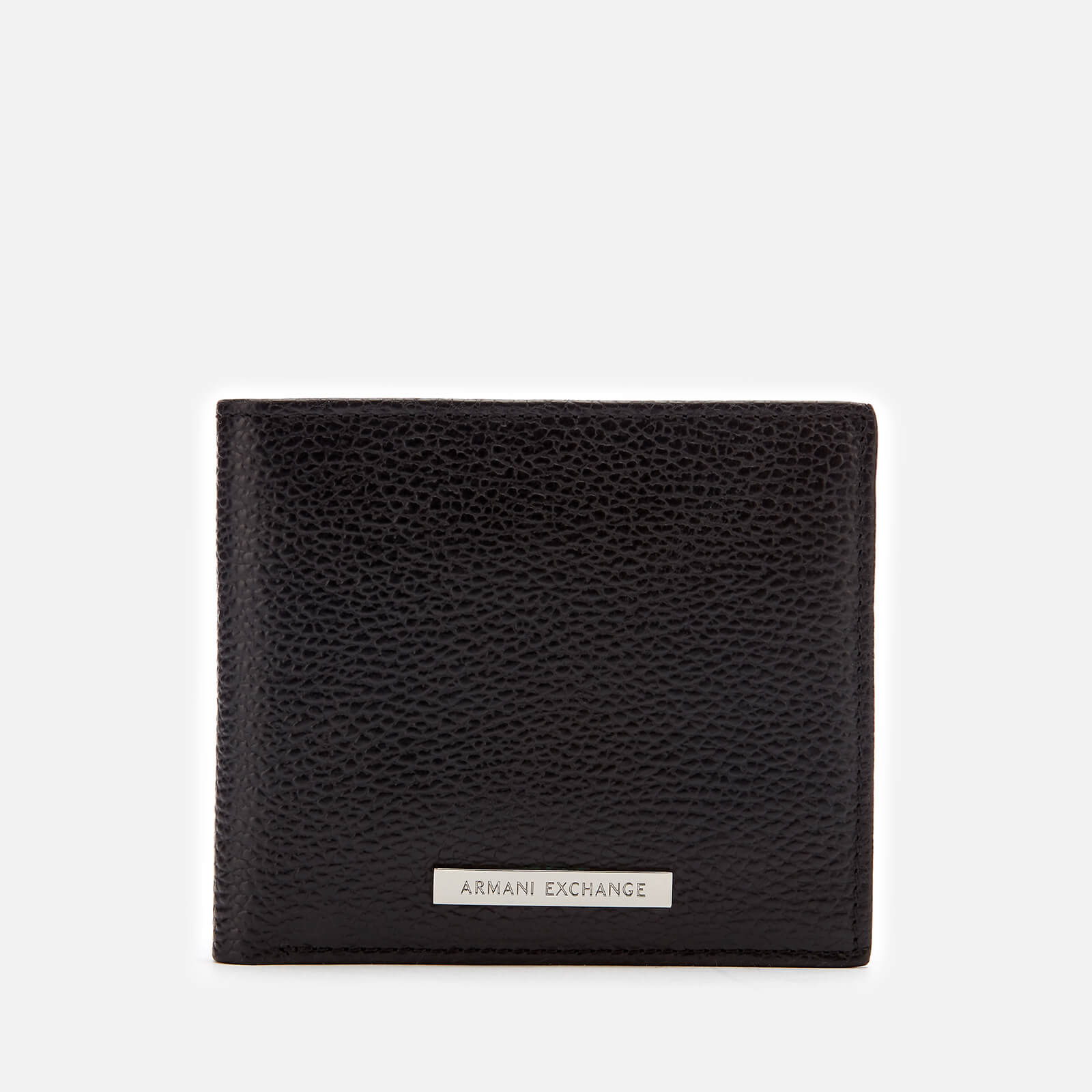 Armani Exchange Men's Tumbled Leather Bifold Wallet - Black