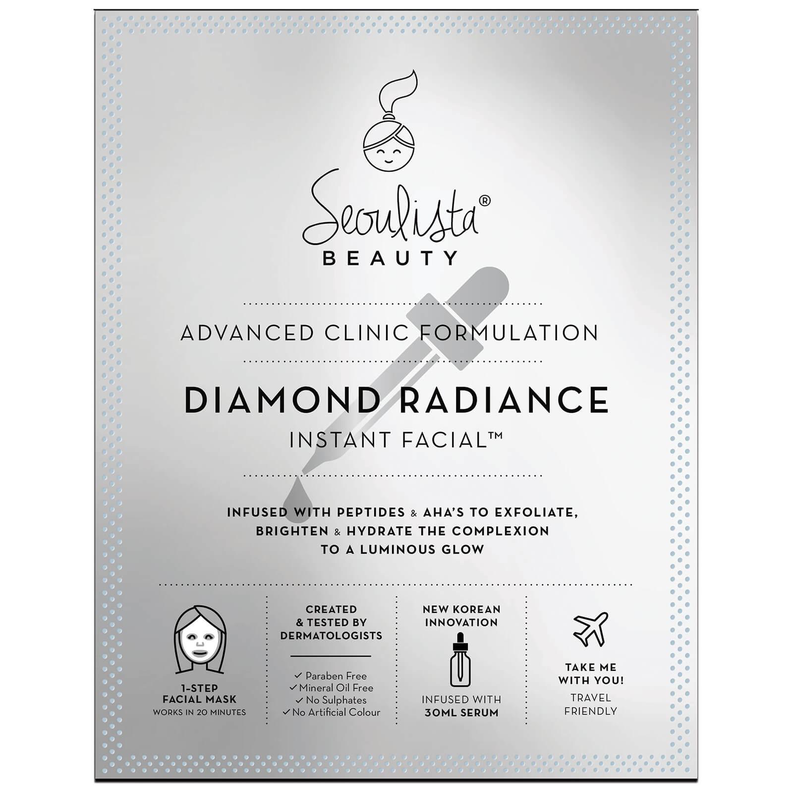Купить Листовая осветляющая экспресс-маска Seoulista Beauty Diamond Radiance Instant Facial