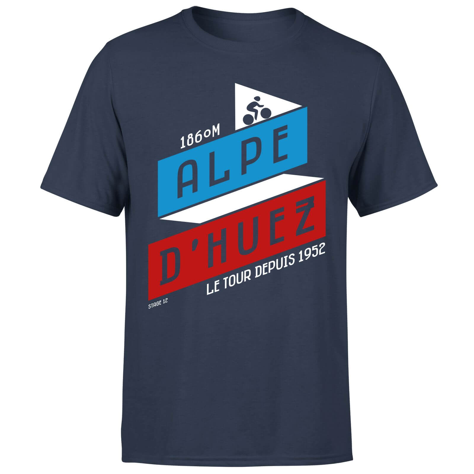 ALPE D'HUEZ Men's T-Shirt - Navy - L - Navy