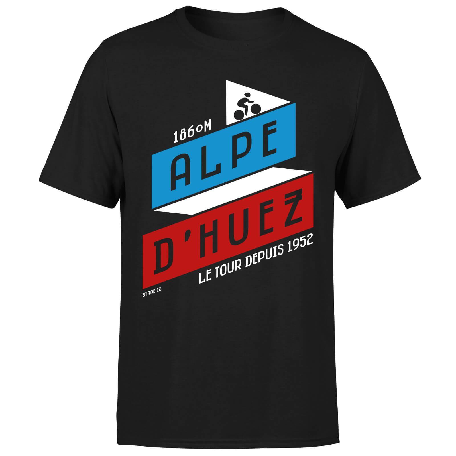 ALPE D'HUEZ Men's T-Shirt - Black - L - Black