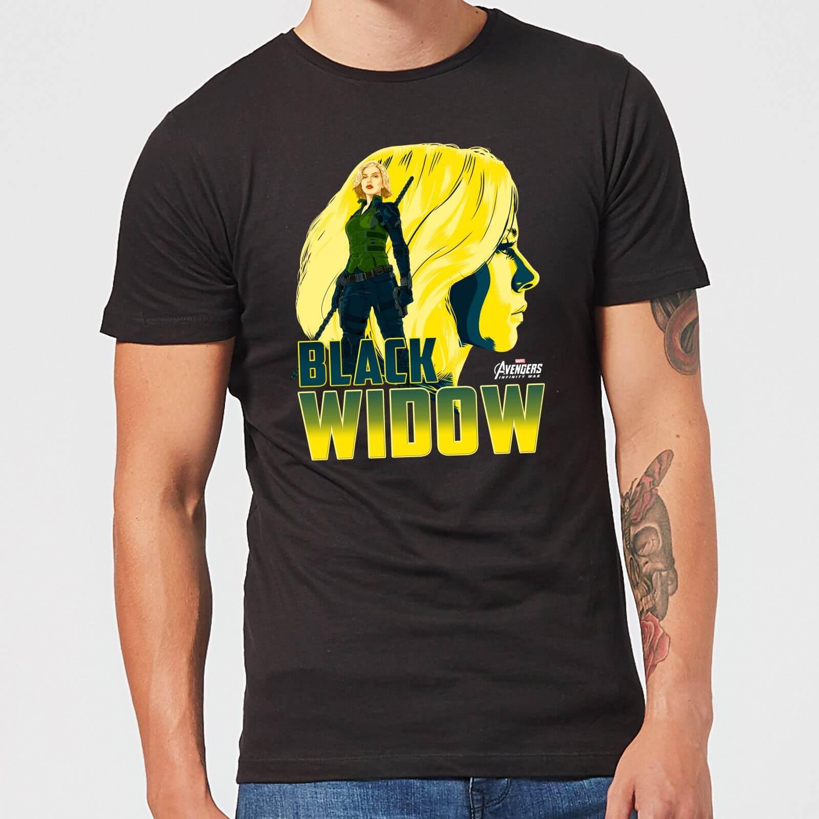 T-Shirt Avengers Black Widow - Nero - Uomo - M