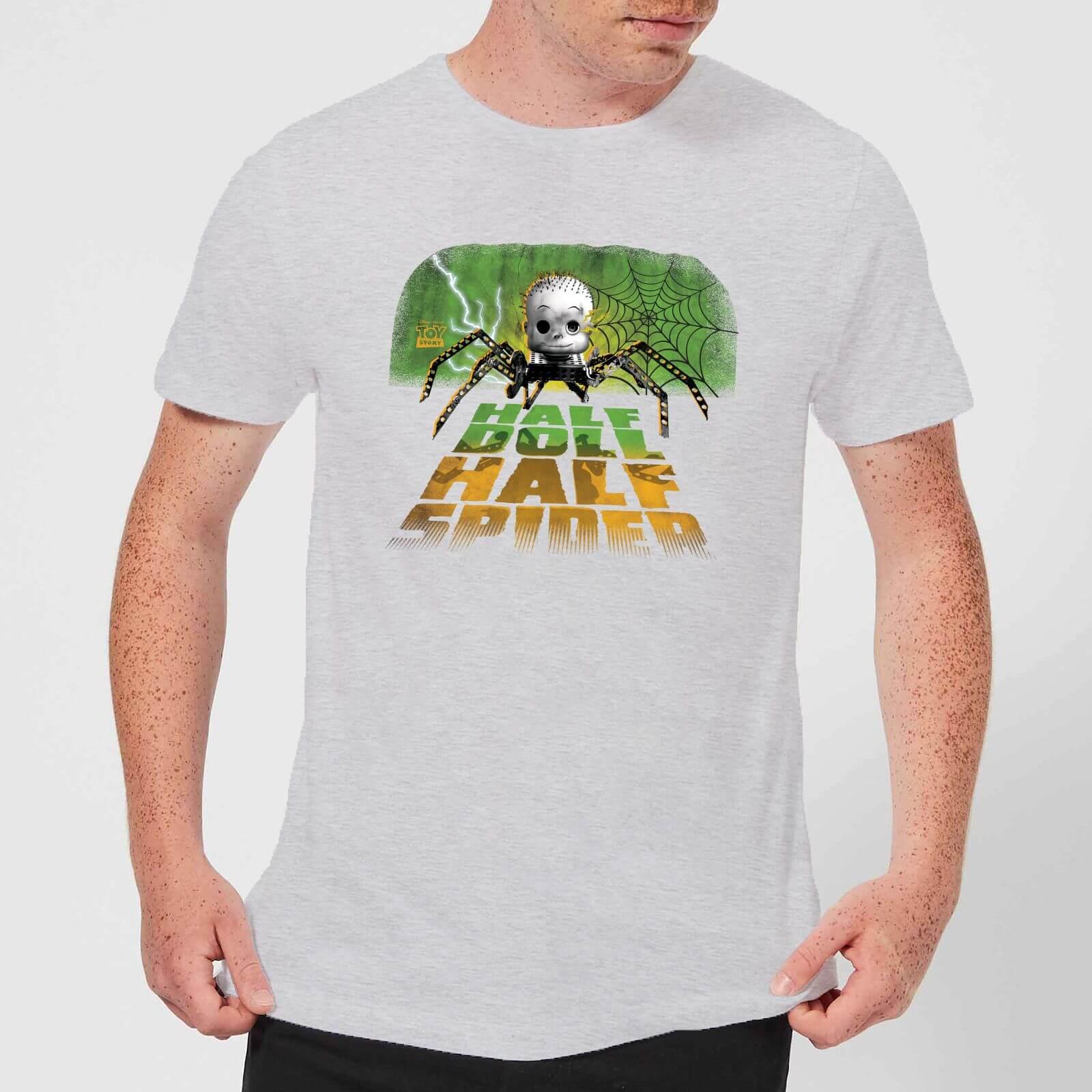 Toy Story Half Doll Half Spider Men's T-Shirt - Grey - XL - Grey