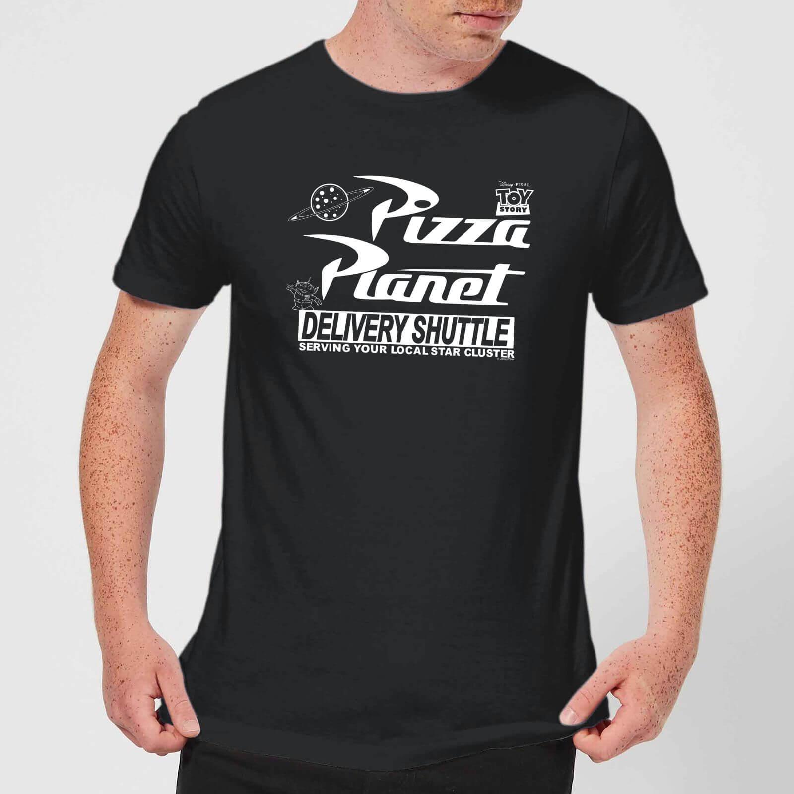 Toy Story Pizza Planet Logo Men's T-Shirt - Black - M - Nero