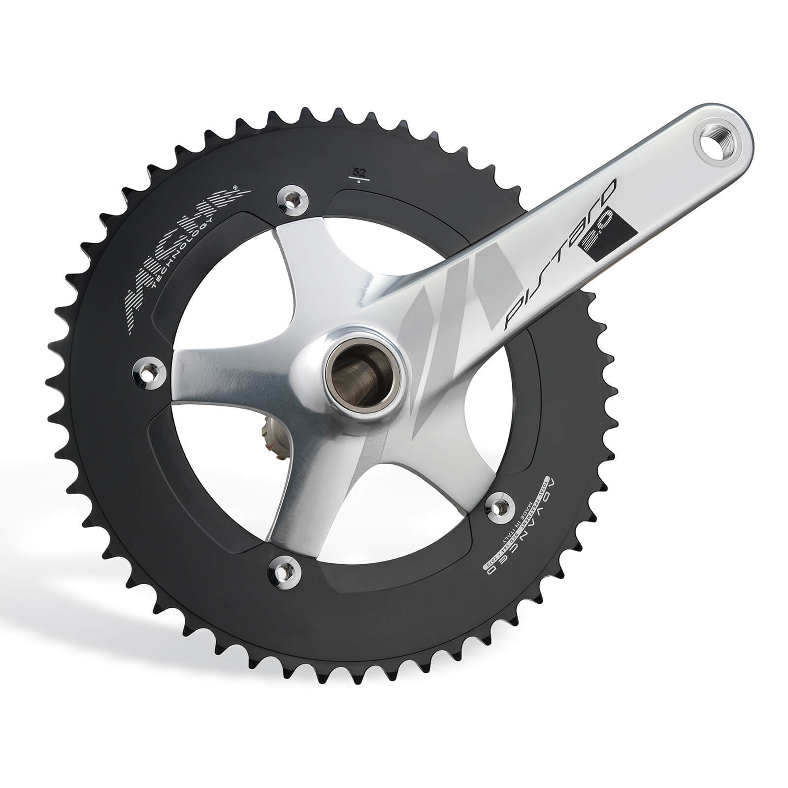 Miche Pistard 2.0 Chainset - 170mm - 49T - Silver