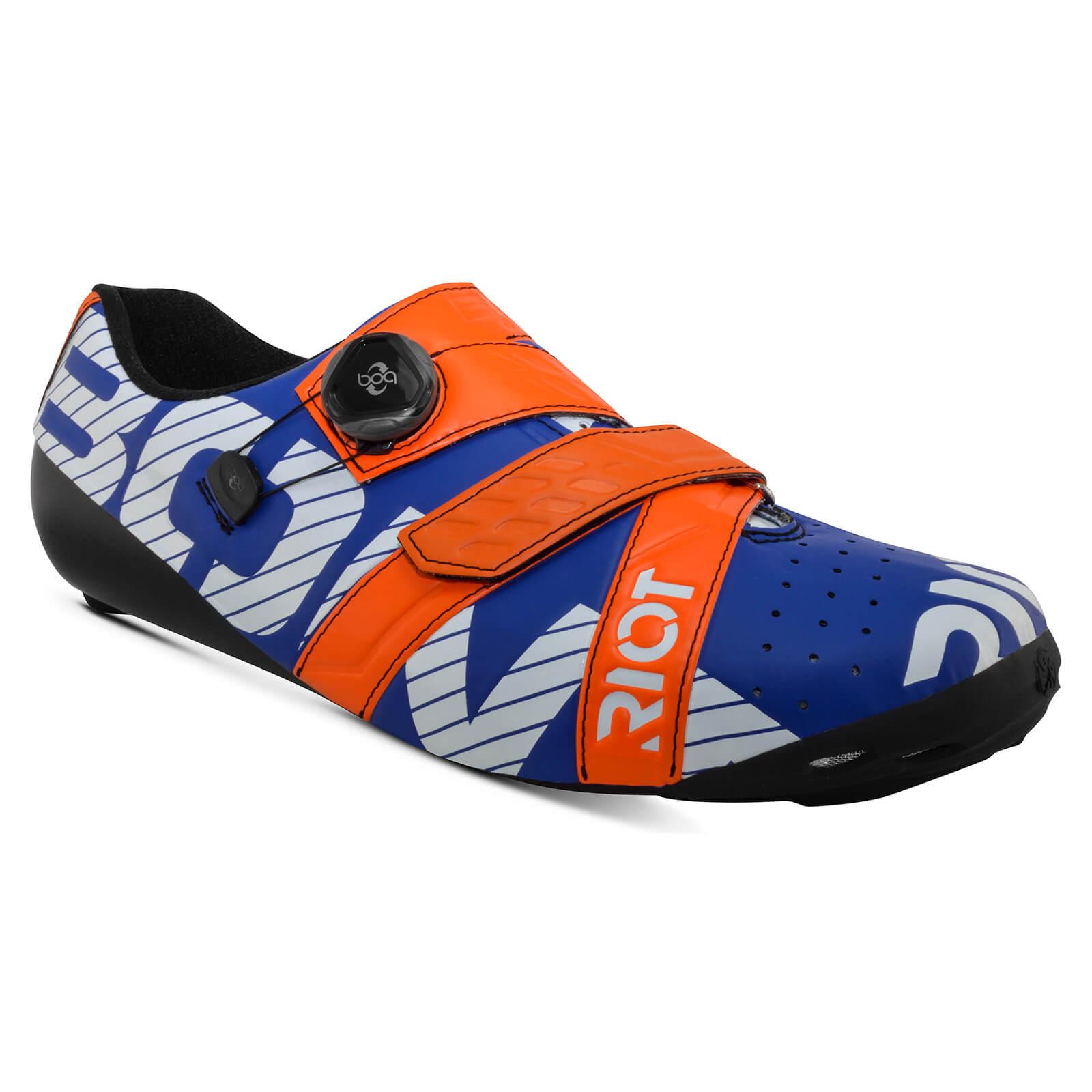 Bont Riot+ Road Shoes - EU 44 - Blue/Red