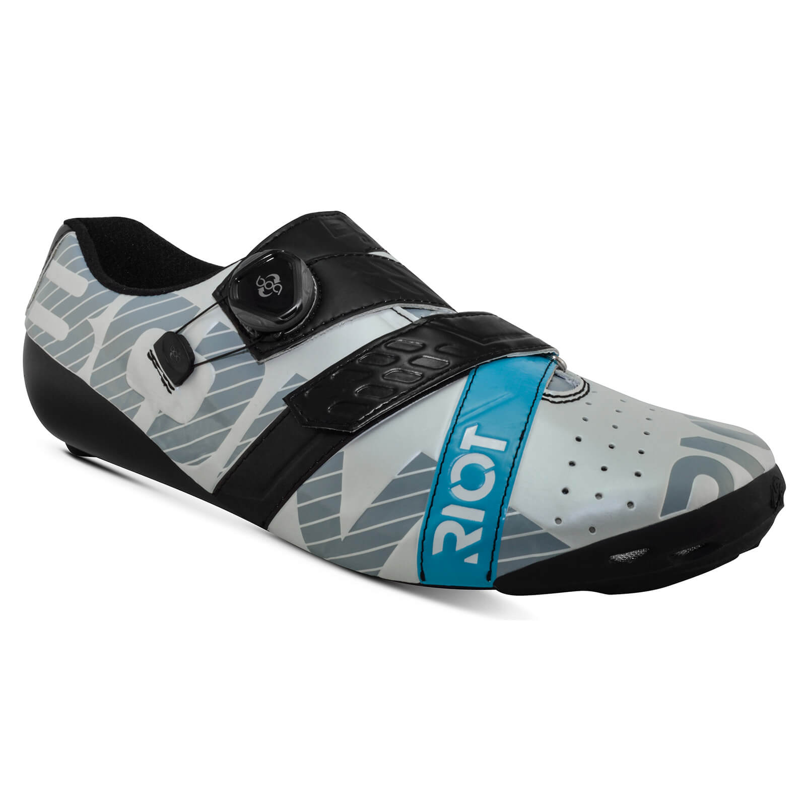 Bont Riot+ Road Shoes - EU 49 - White/Black