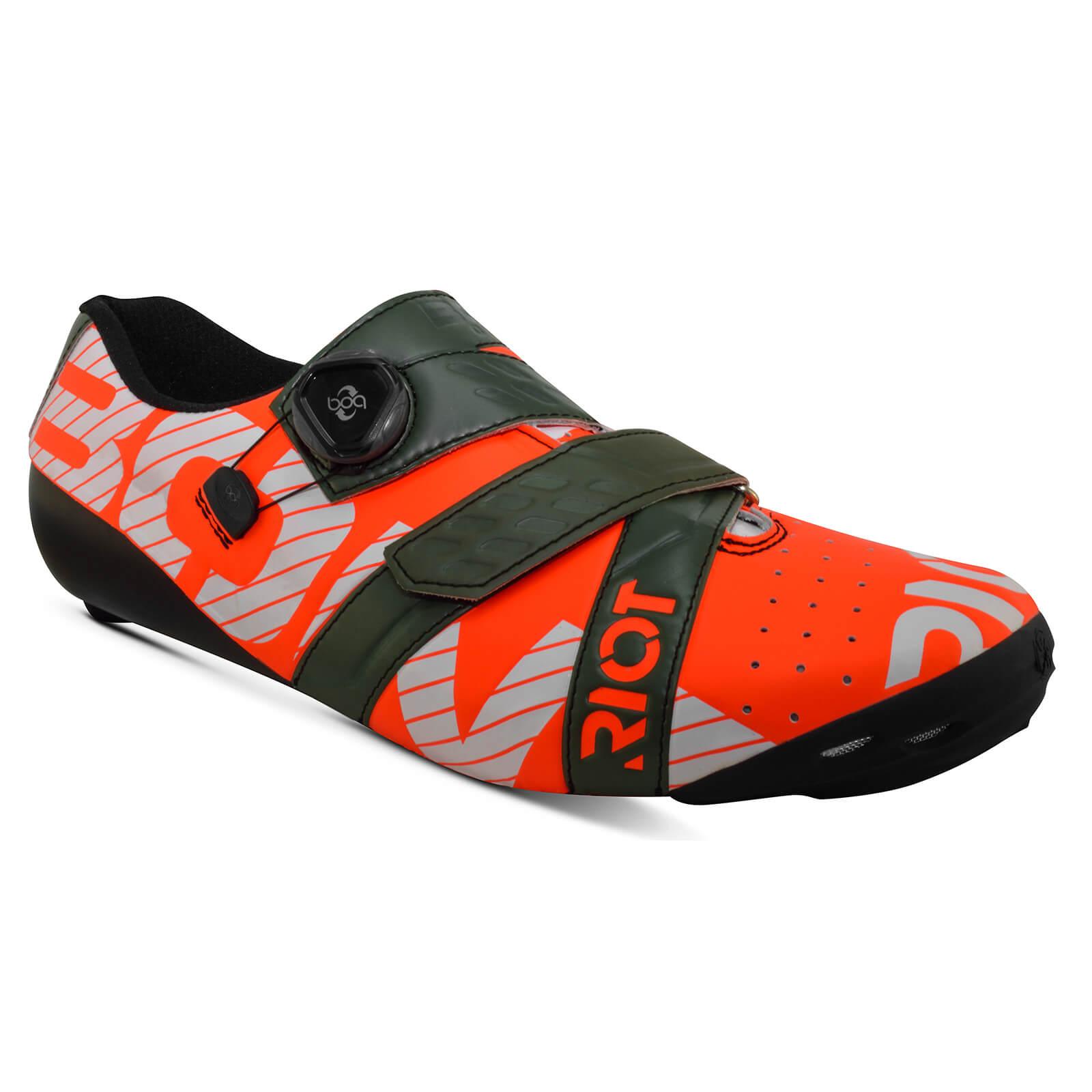 Bont Riot+ Road Shoes - EU 39 - Red/Green