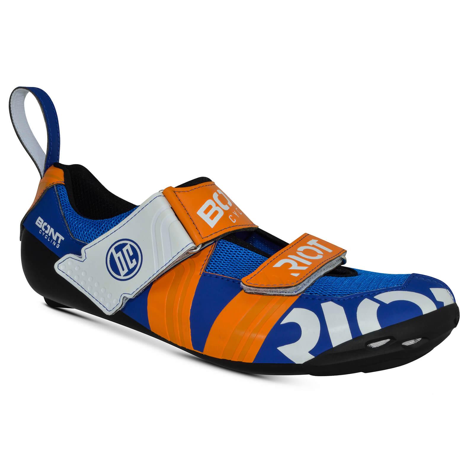 Bont Riot TR+ Road Shoes - EU 48 - Blue/Red