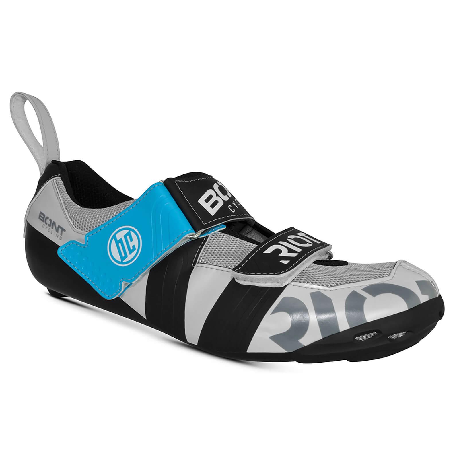 Bont Riot TR+ Road Shoes - EU 46.5 - White/Black