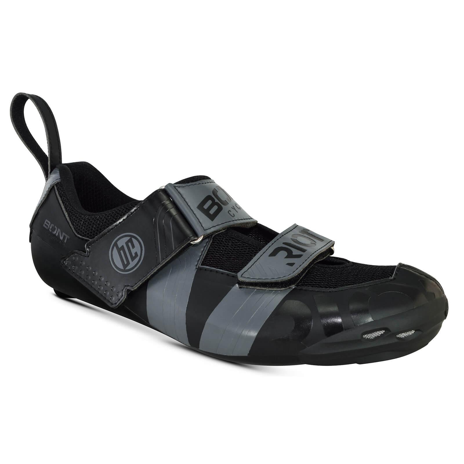 Bont Riot TR+ Road Shoes - EU 43 - Black/Grey
