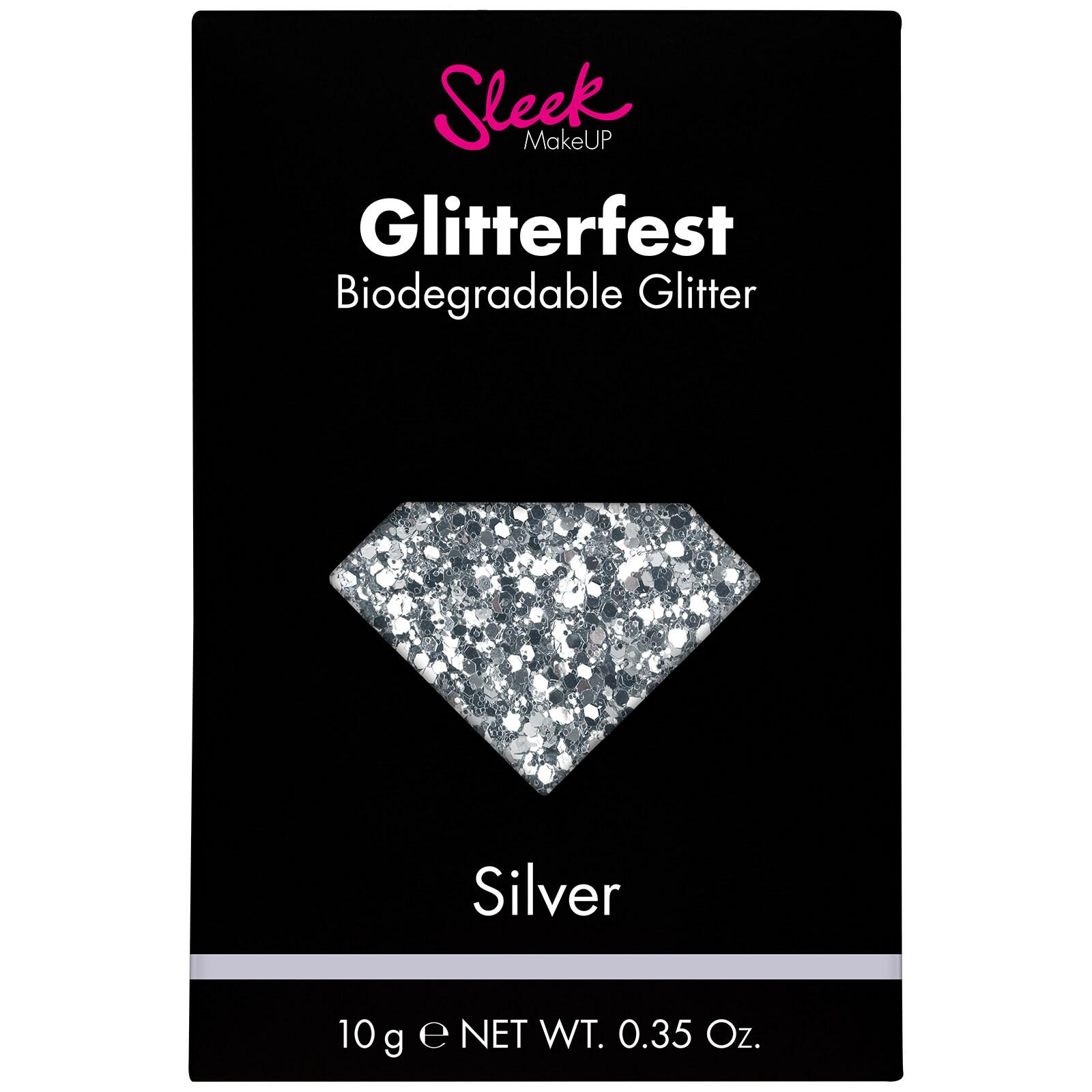 Купить Биоразлагаемый глиттер для тела Sleek MakeUP Glitterfest Biodegradable Glitter - Silver 10 г