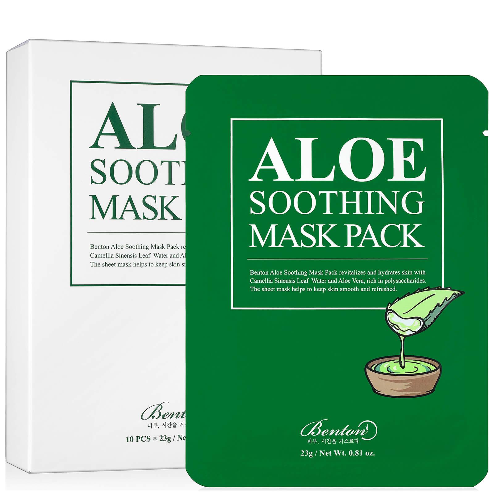 Купить Успокаивающая маска для лица Benton Aloe Soothing Mask Pack - 10 штук в упаковке