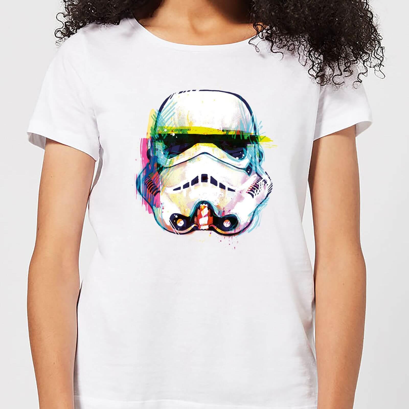 Star Wars Stormtrooper Paintbrush Women's T-Shirt - White - S - White