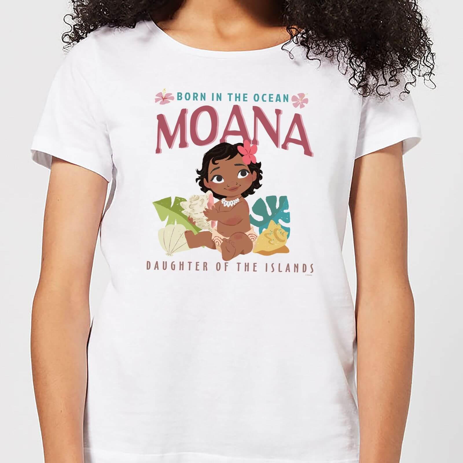 Moana Born In The Ocean Women's T-Shirt - White - XXL - White