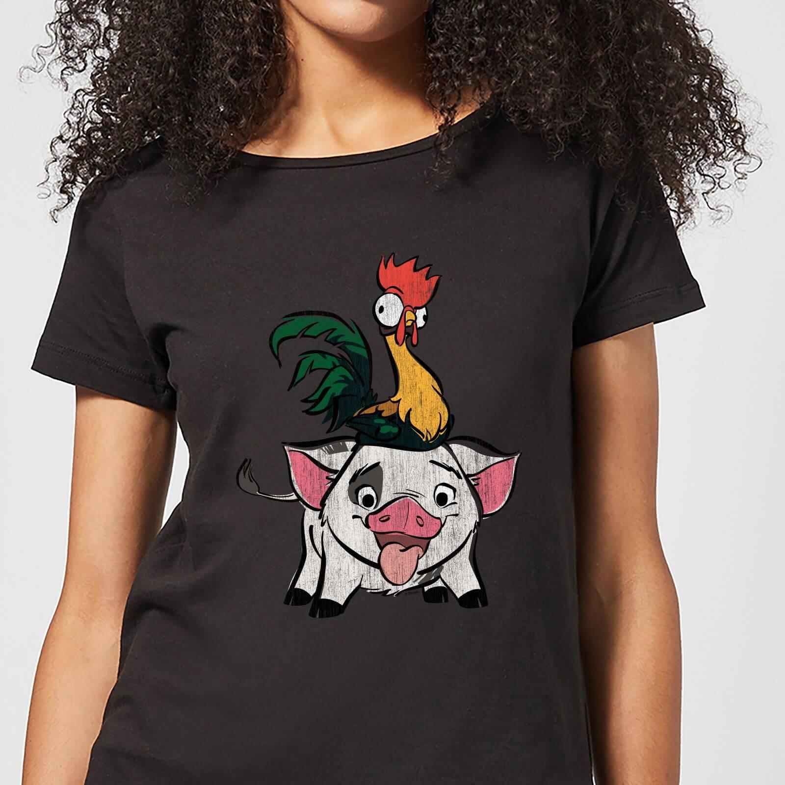 Moana Hei Hei and Pua Women's T-Shirt - Black - XL - Black