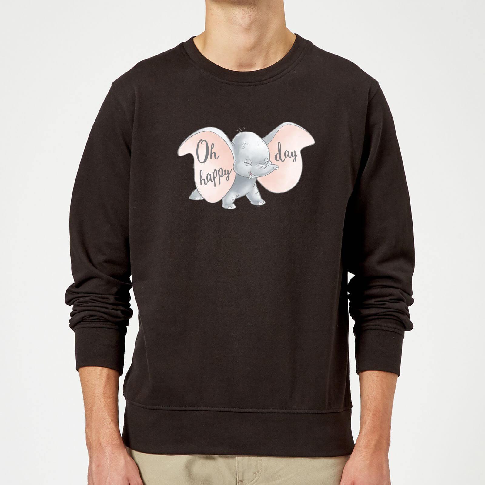 Disney Dumbo Happy Day Sweatshirt - Black - 5XL - Black