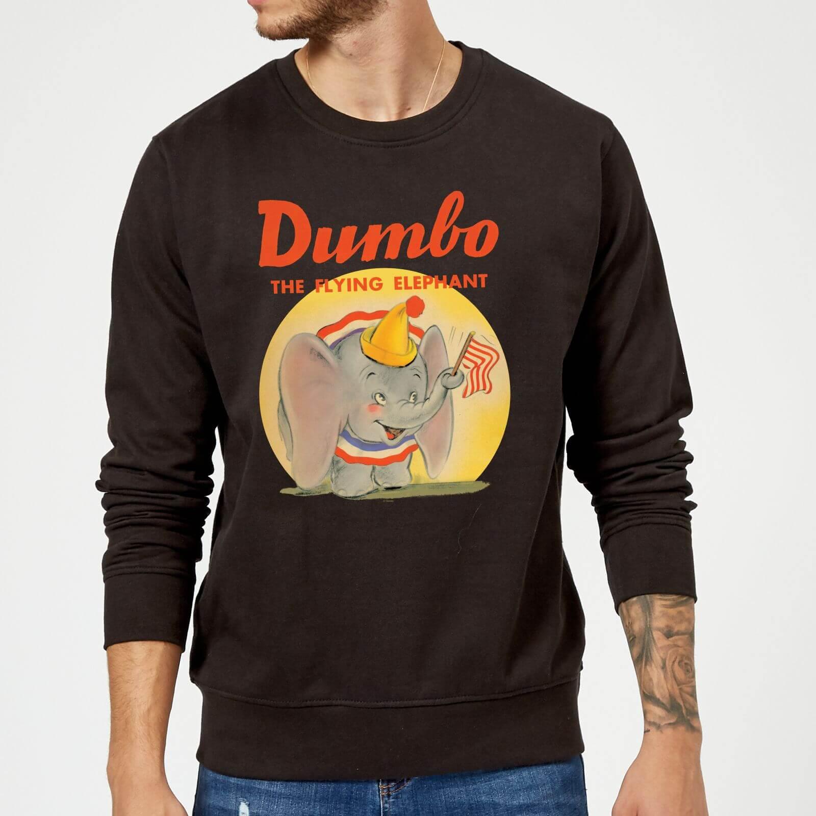 Disney Dumbo Flying Elephant Sweatshirt - Black - 5XL - Black