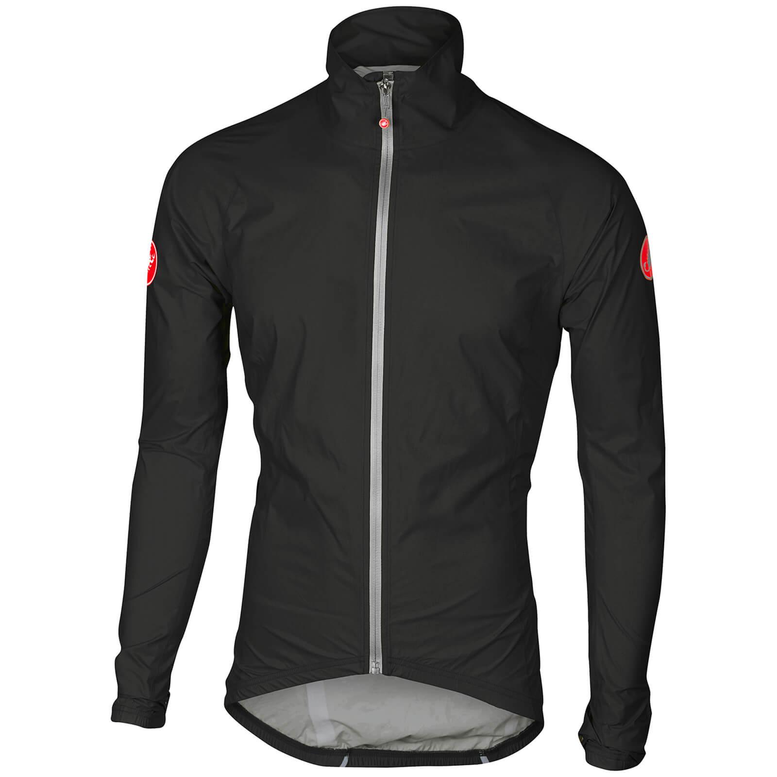 Image of Castelli Emergency Rain Jacket - S - Black