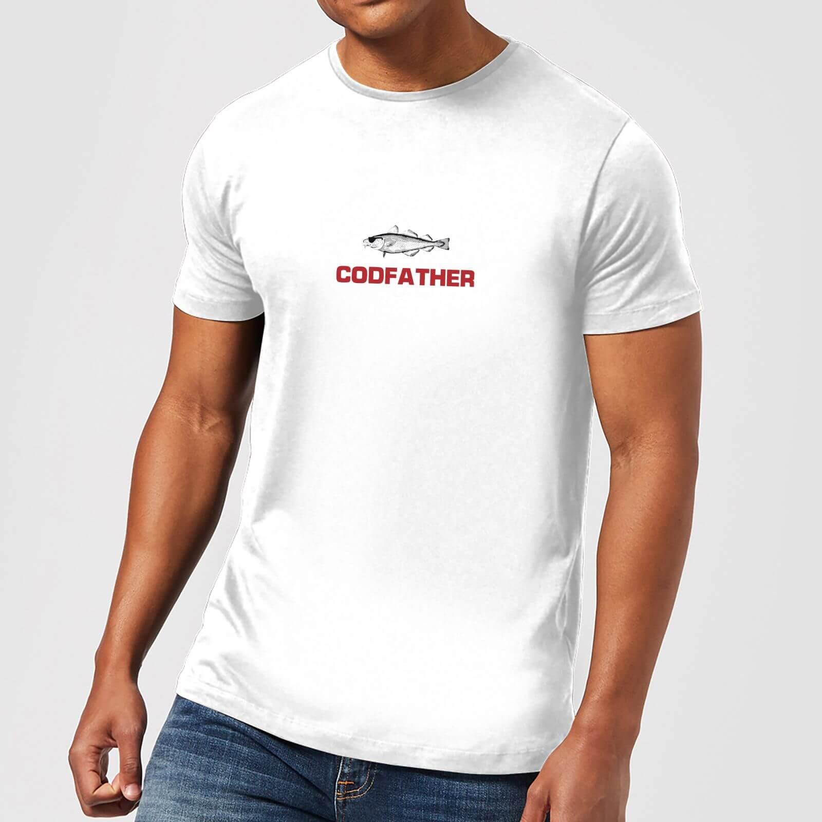 Plain Lazy Codfather Men's T-Shirt - White - XS - White