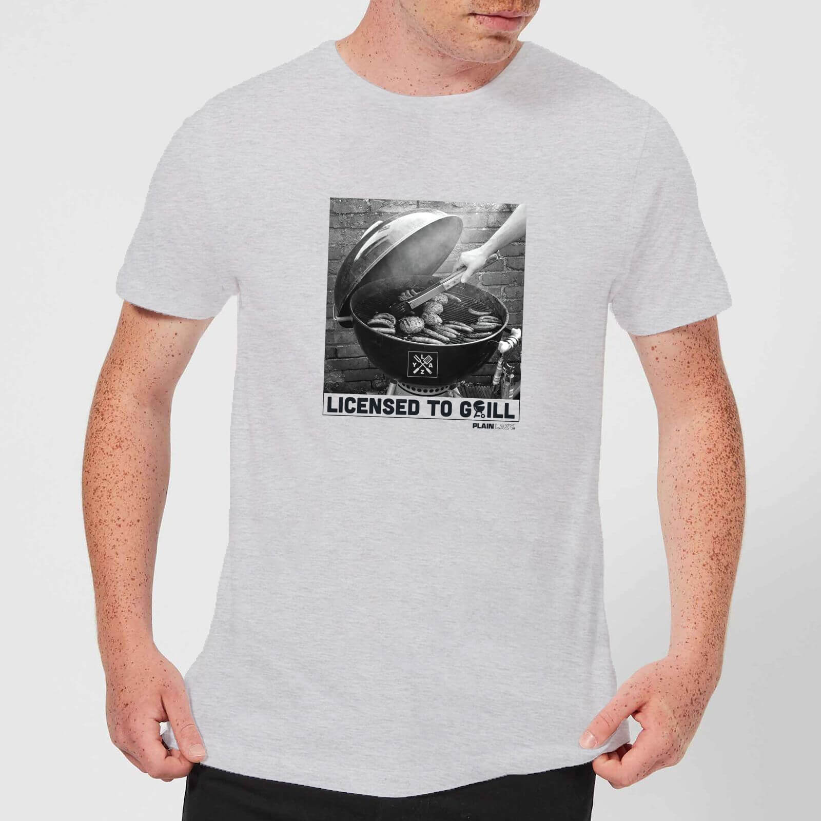 Plain Lazy Licence To Grill Men's T-Shirt - Grey - XS - Grey