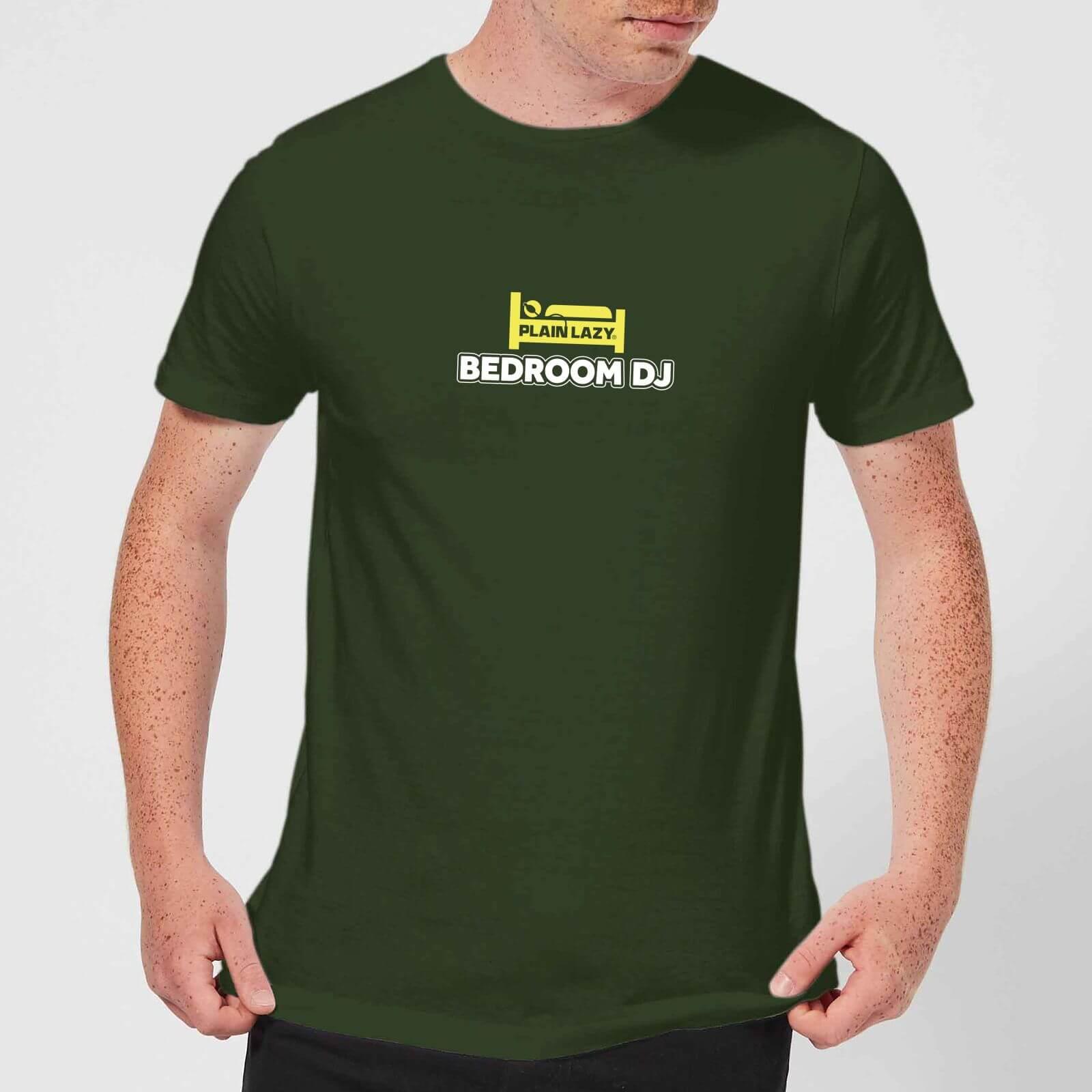 Plain Lazy Bedroom DJ Men's T-Shirt - Forest Green - XS - Forest Green