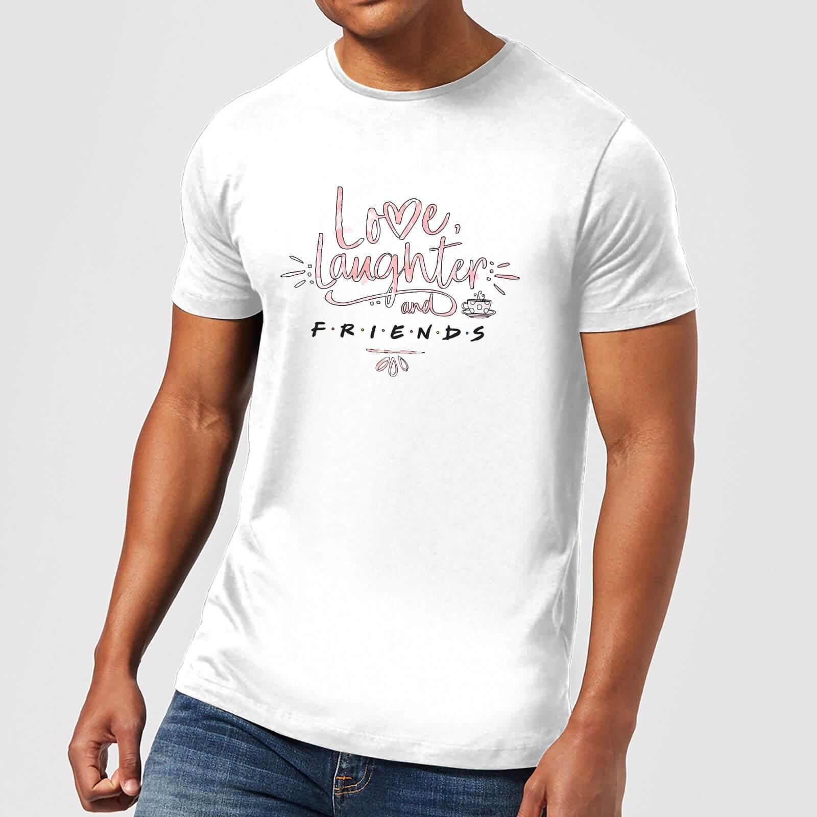 Friends Love Laughter Herren T-Shirt - Weiß - XXL - Weiß