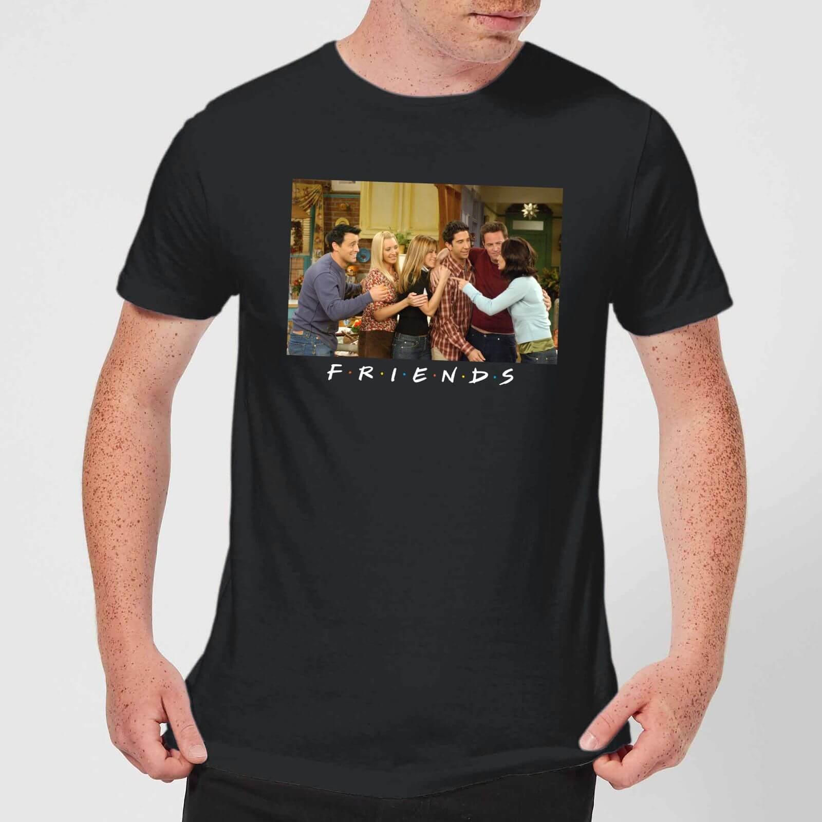 Friends Cast Shot Herren T-Shirt - Schwarz - XXL - Schwarz