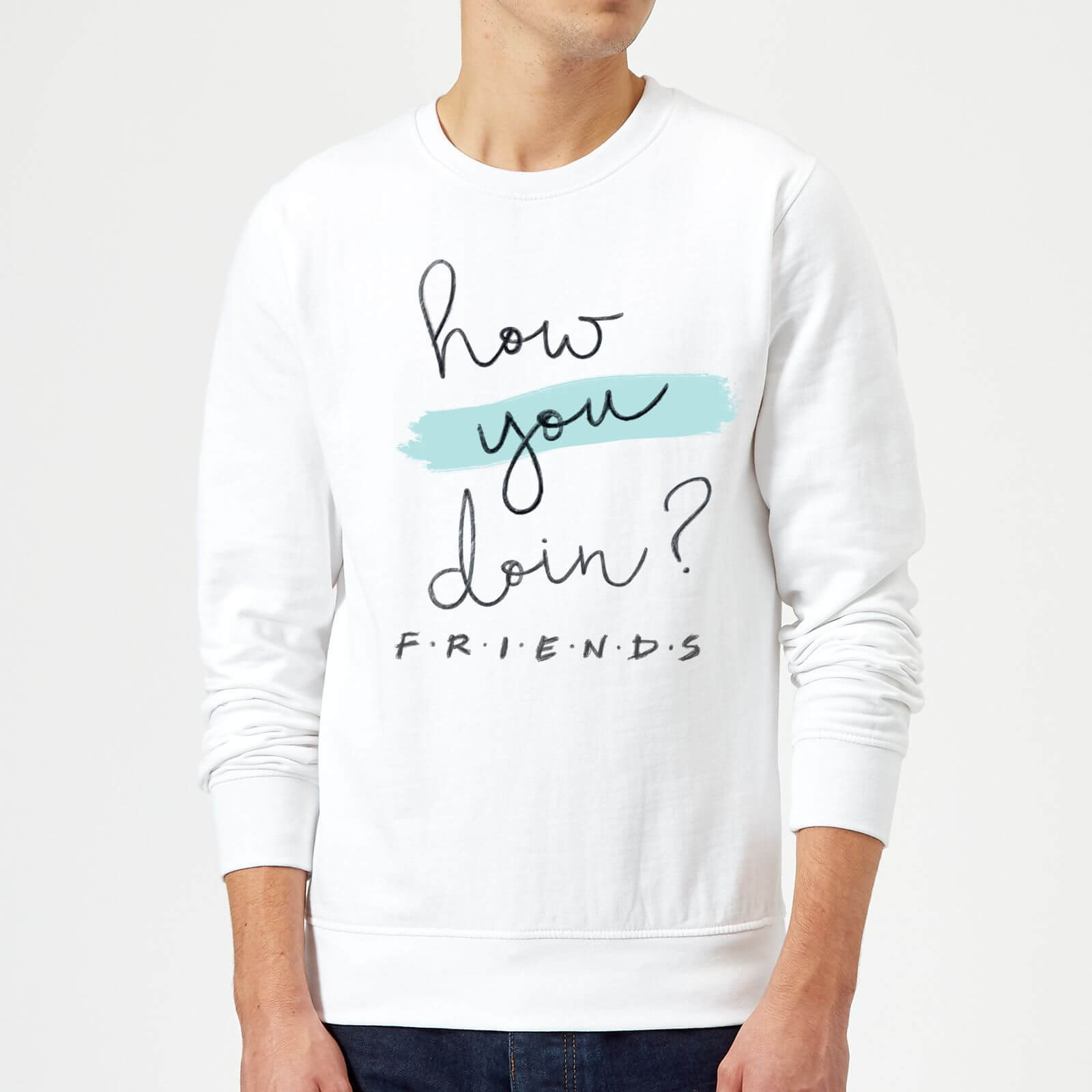 Friends How You Doin? Pullover - Weiß - L - Weiß