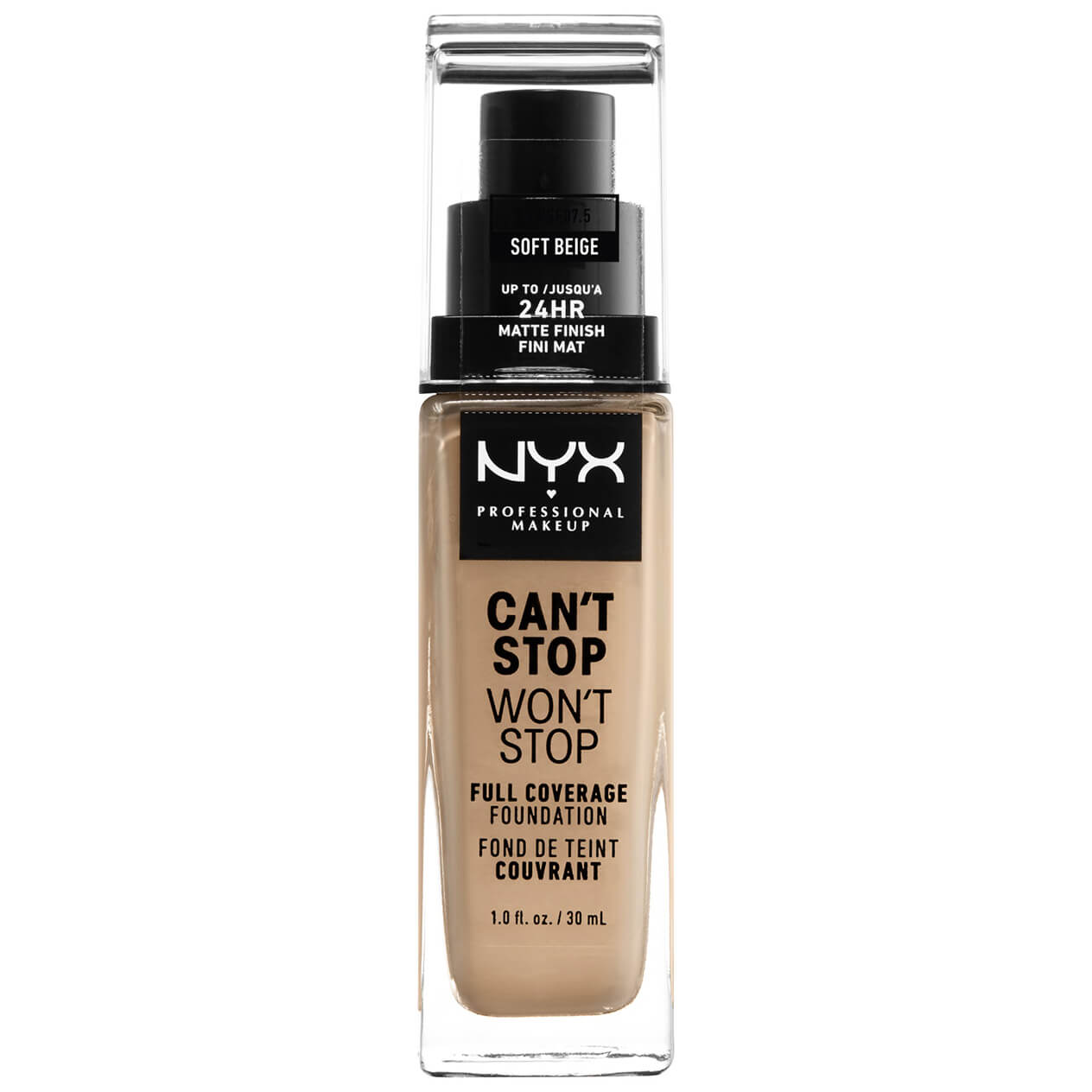 NYX Professional Makeup Can't Stop Won't Stop 24 Hour Foundation (Various Shades) - Soft Beige