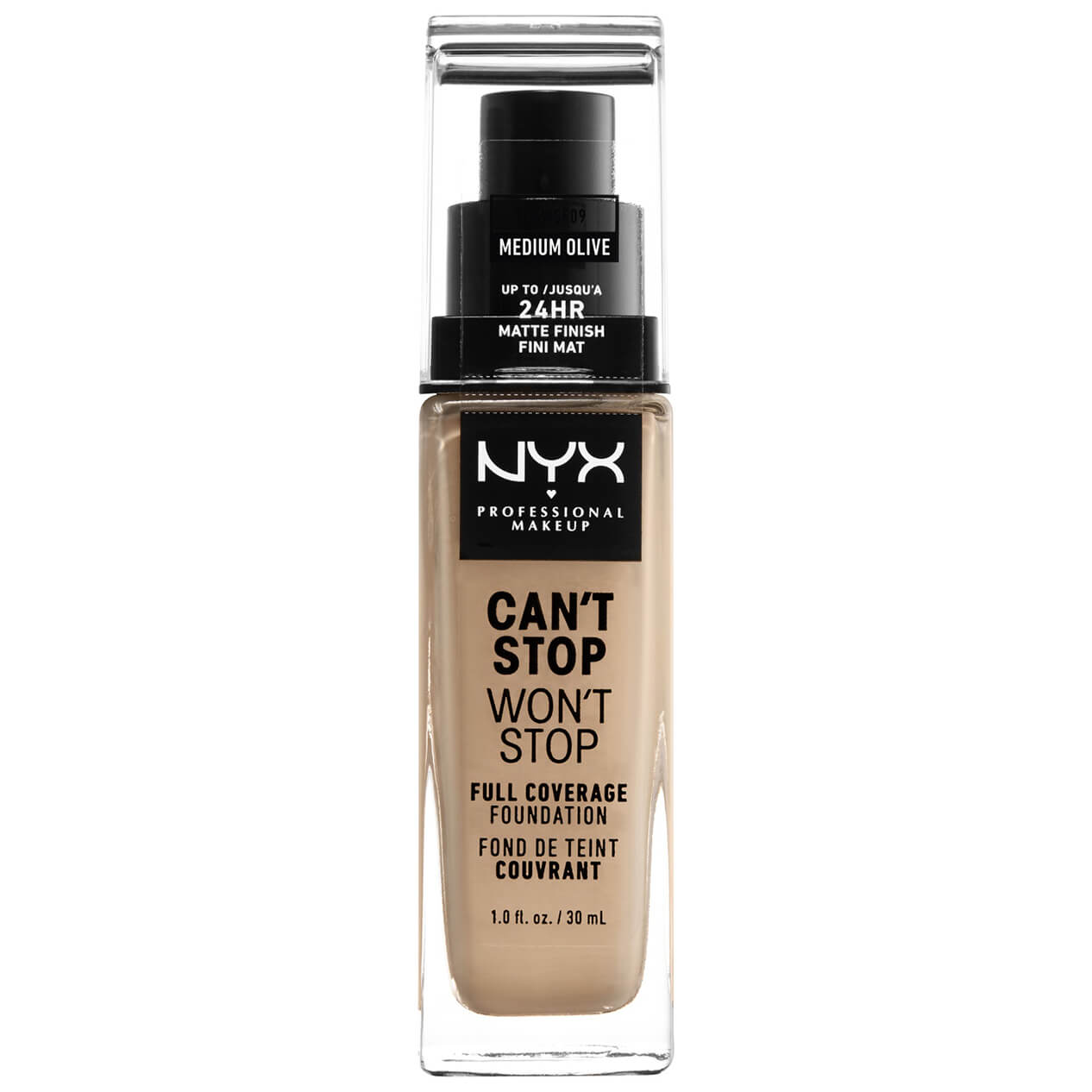 NYX Professional Makeup Can't Stop Won't Stop 24 Hour Foundation (Various Shades) - Medium Olive