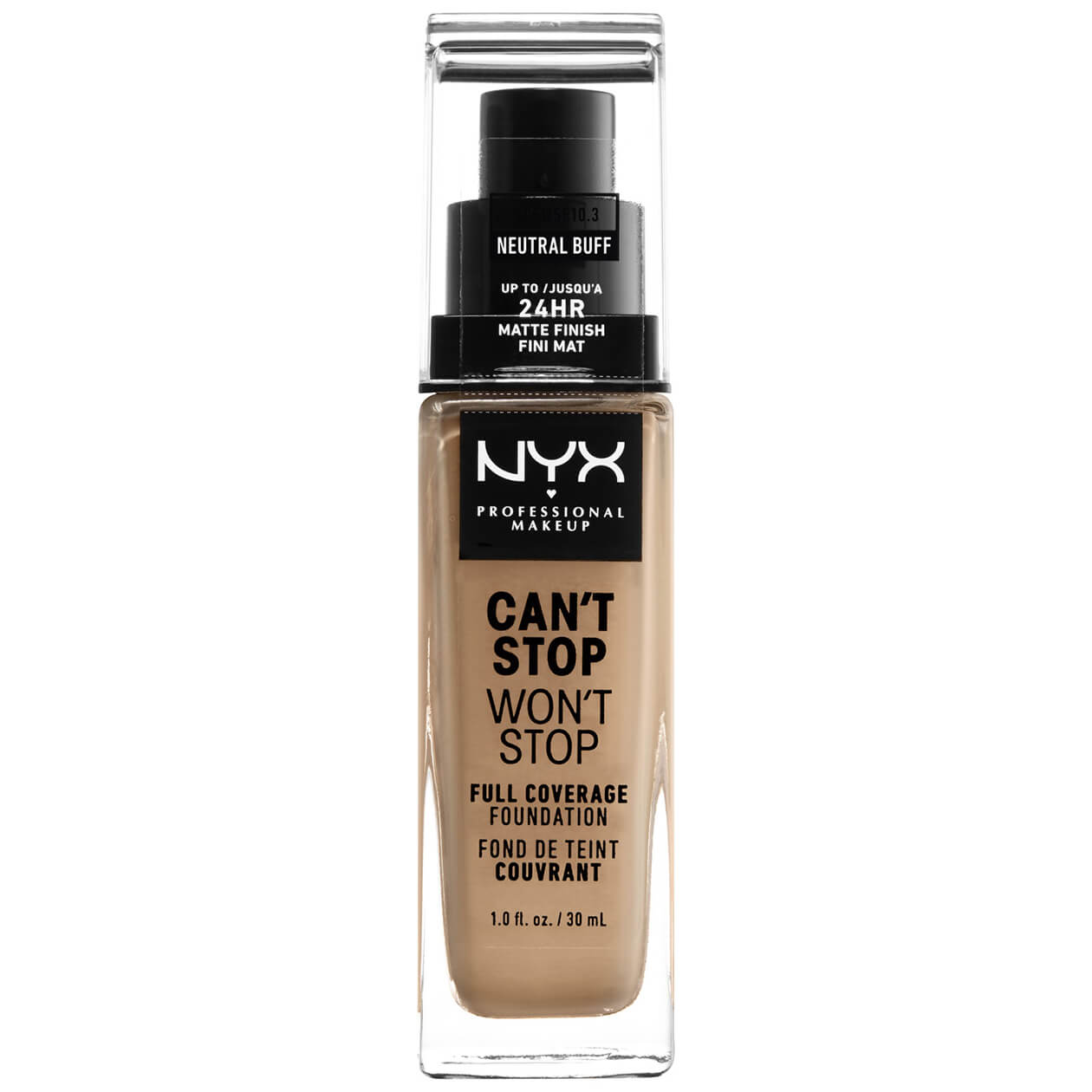 NYX Professional Makeup Can't Stop Won't Stop 24 Hour Foundation (Various Shades) - Neutral Buff