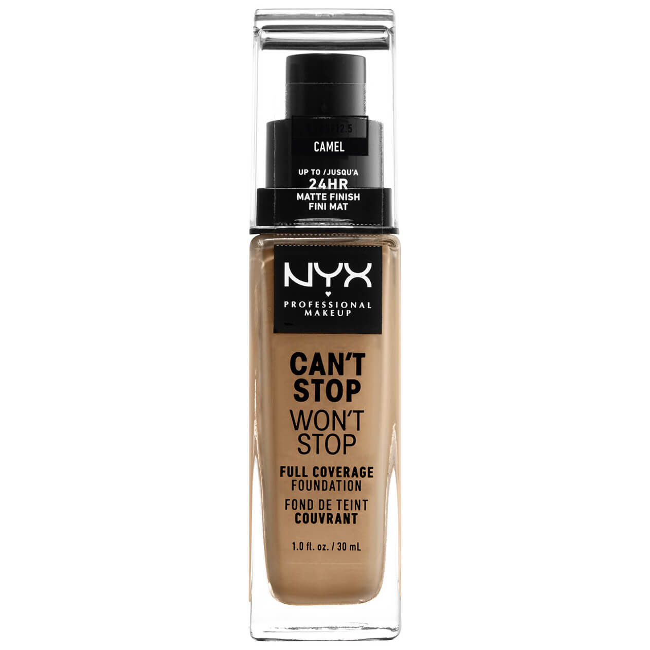 NYX Professional Makeup Can't Stop Won't Stop 24 Hour Foundation (Various Shades) - Camel