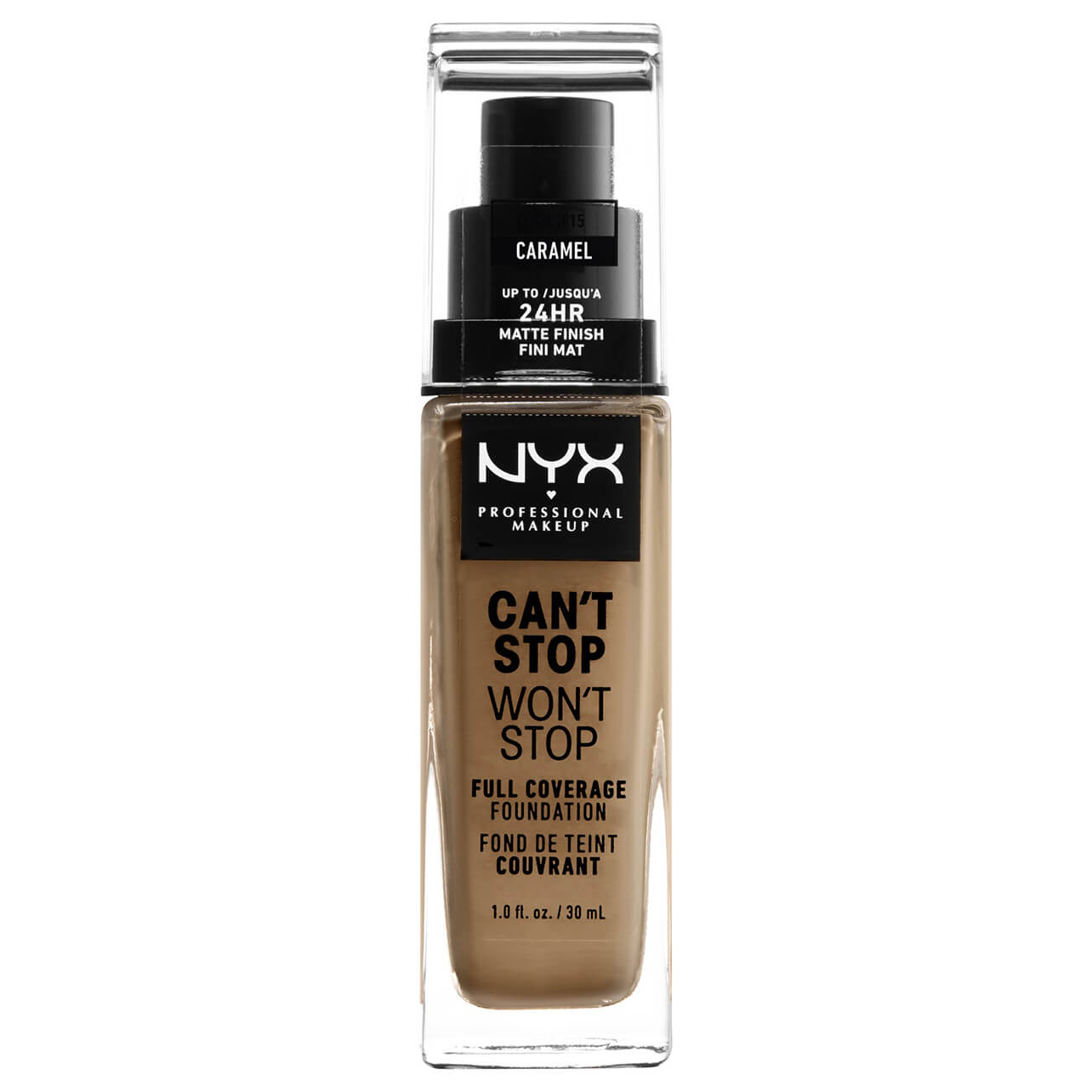 NYX Professional Makeup Can't Stop Won't Stop 24 Hour Foundation (Various Shades) - Caramel