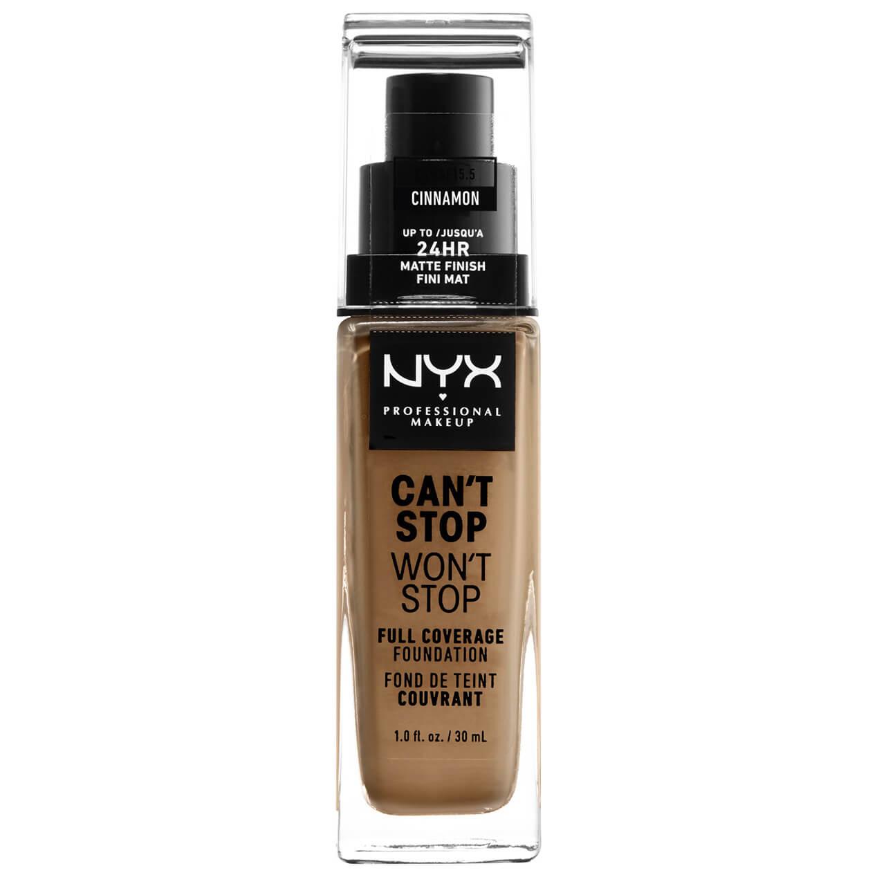 Fond de Teint 24Heures Can't Stop Won't Stop NYX Professional Makeup (différentes teintes disponibles) - Cinnamon