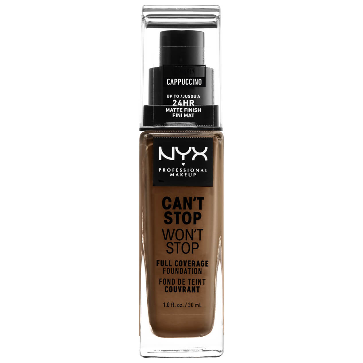 NYX Professional Makeup Can't Stop Won't Stop 24 Hour Foundation (Various Shades) - Cappuccino