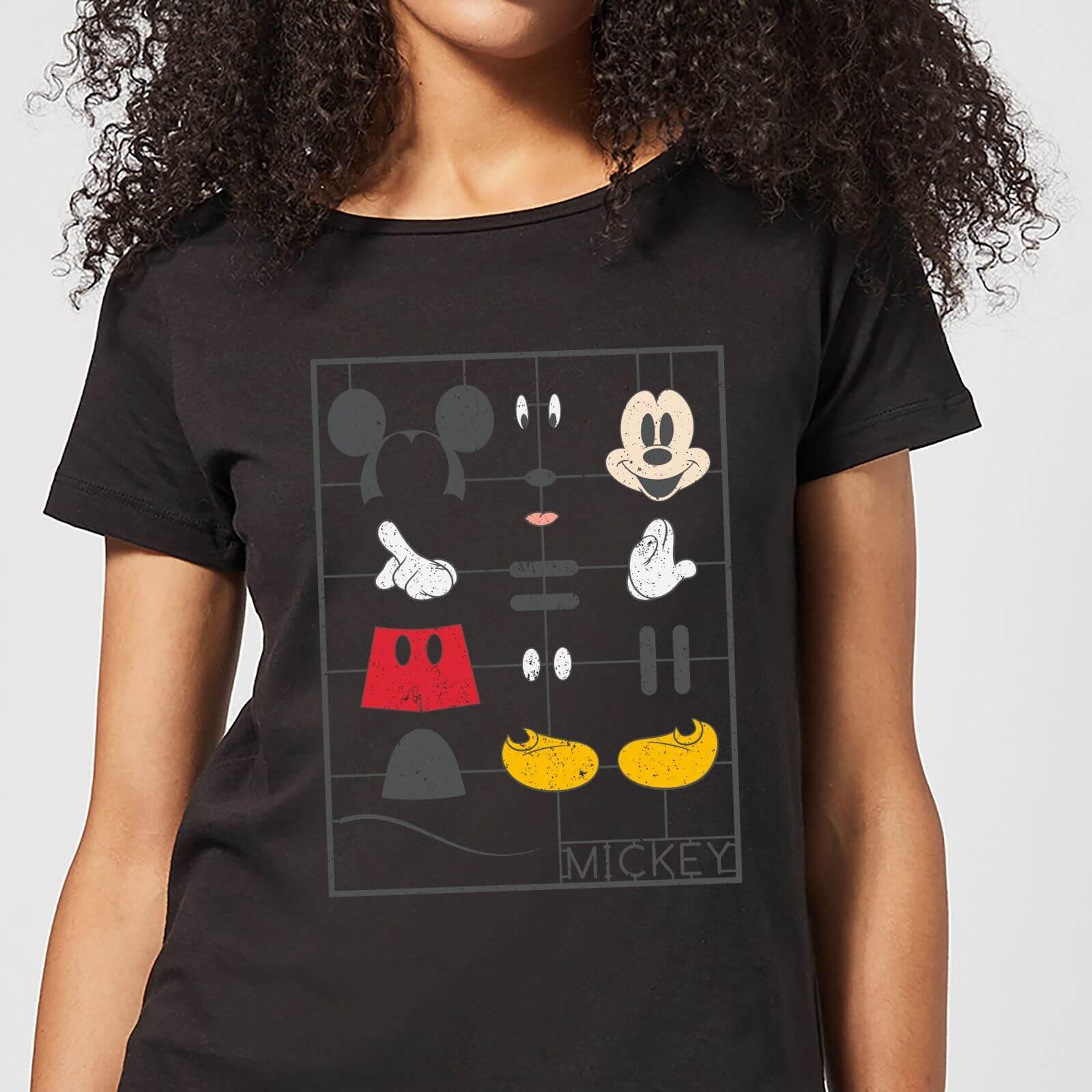 Disney Disney Mickey Mouse Construction Kit Women's T-Shirt - Black - S - Black