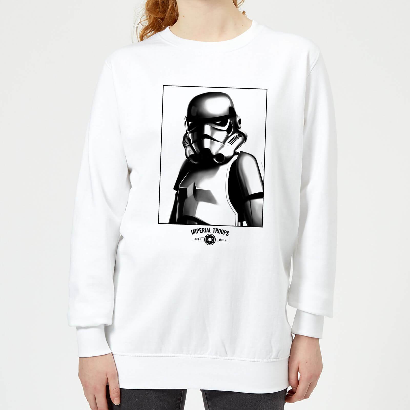 Star Wars Imperial Troops Women's Sweatshirt - White - XS - White
