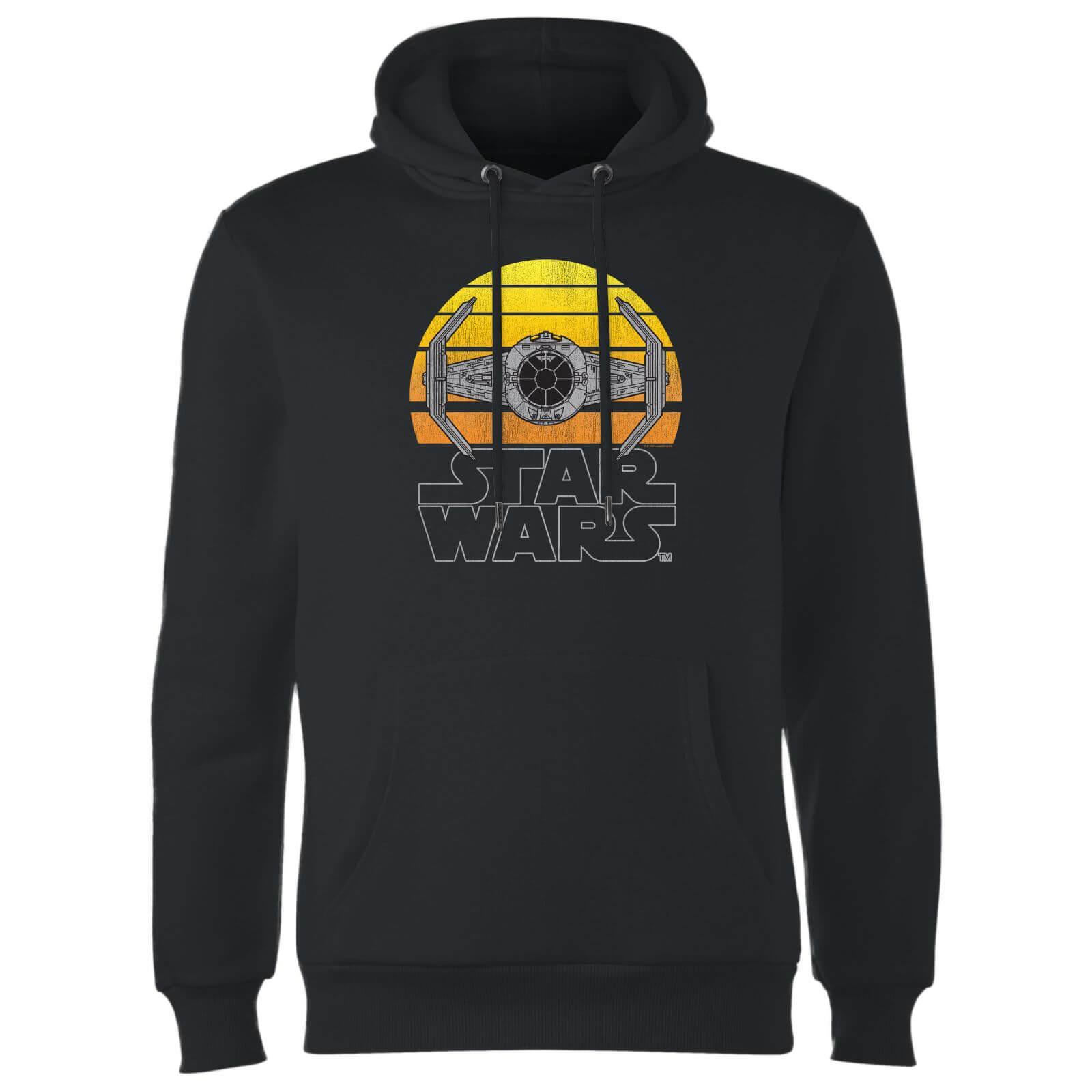 Star Wars Sunset Tie Hoodie - Black - XXL - Black