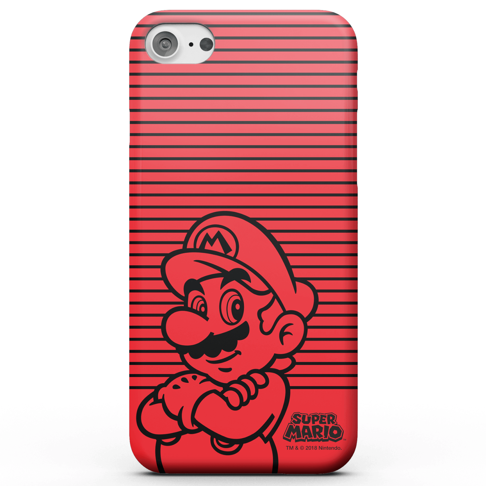 Nintendo Super Mario Mario Retro Colour Line Art Phone Case for iPhone and Android - iPhone 6 Plus - Tough Case - Gloss