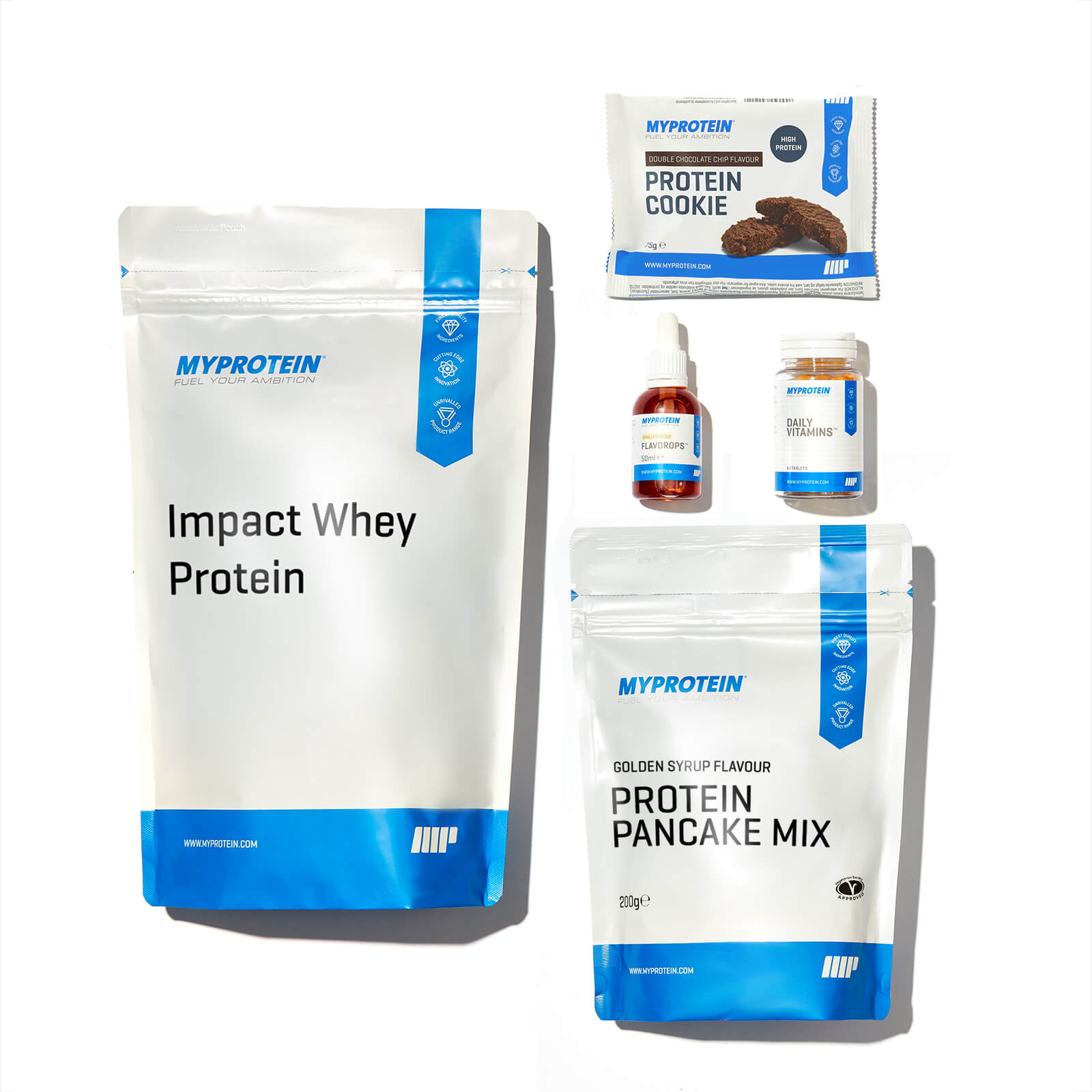 Myprotein App Weight Loss Bundle - Double Chocolate - White Chocolate - Cookies and Cream