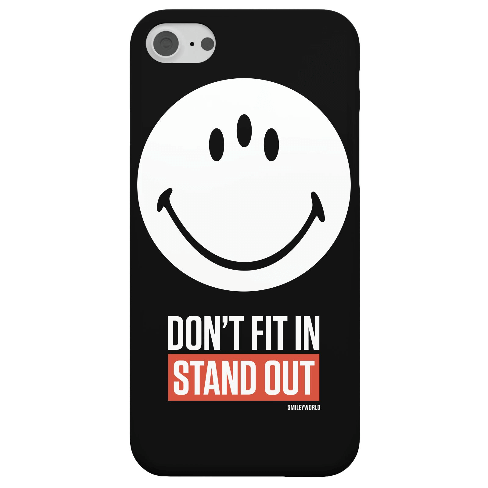 Smiley World Slogan Don't Fit In, Stand Out Phone Case for iPhone and Android - iPhone 5/5s - Snap Case - Matte
