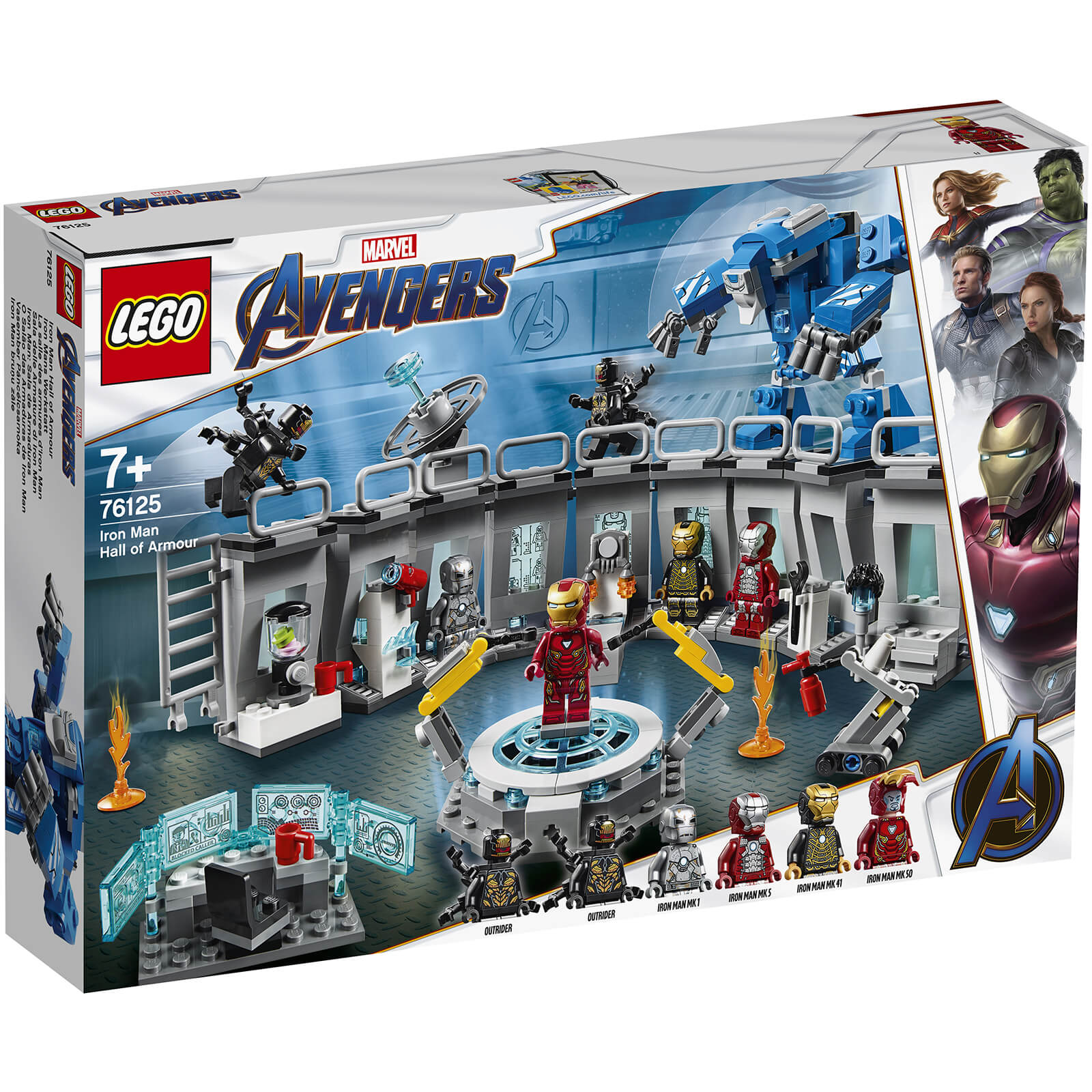 LEGO Marvel Avengers Iron Man Hall Of Armor Lab Set (76125)