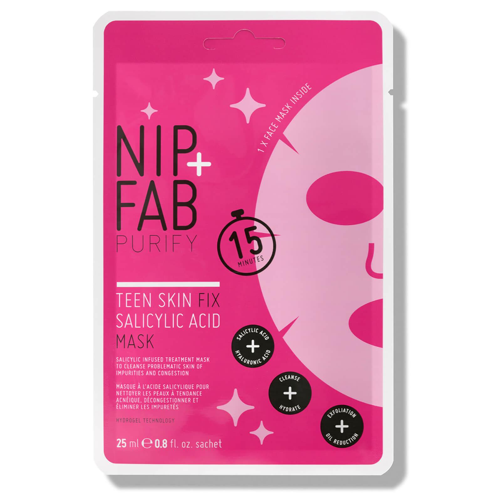 Купить Тканевая маска с салициловой кислотой для подростковой кожи NIP+FAB Teen Skin Fix Salicylic Acid Sheet Mask