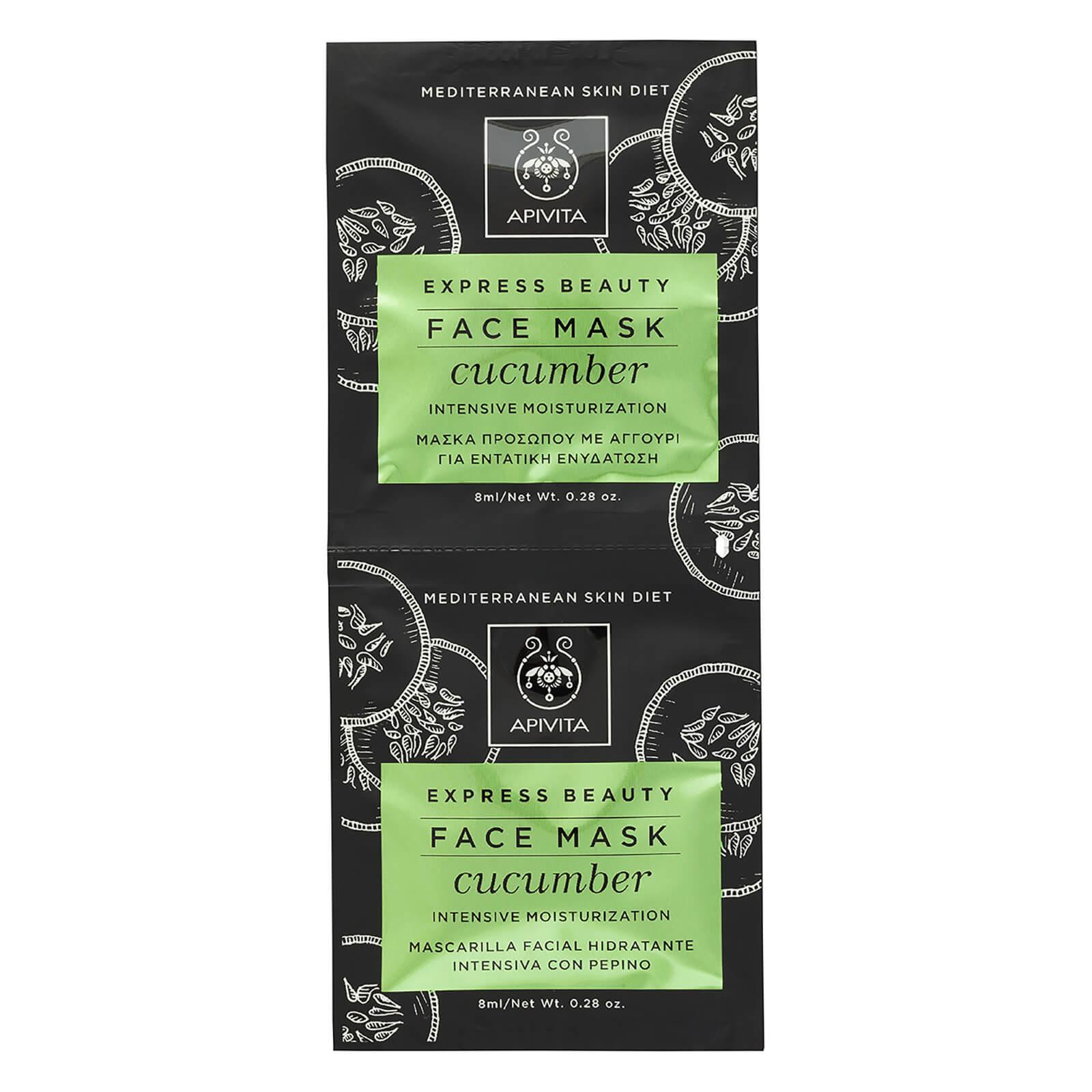 APIVITA Express Intense Moisturizing Face Mask - Cucumber 2x8ml