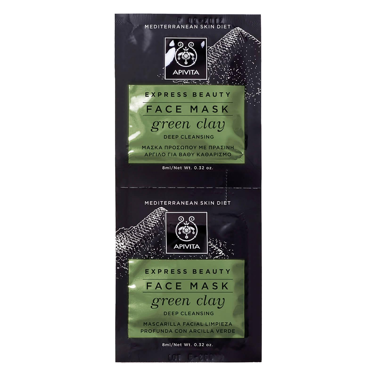 APIVITA Express Deep Cleansing Face Mask - Green Clay 2x8ml