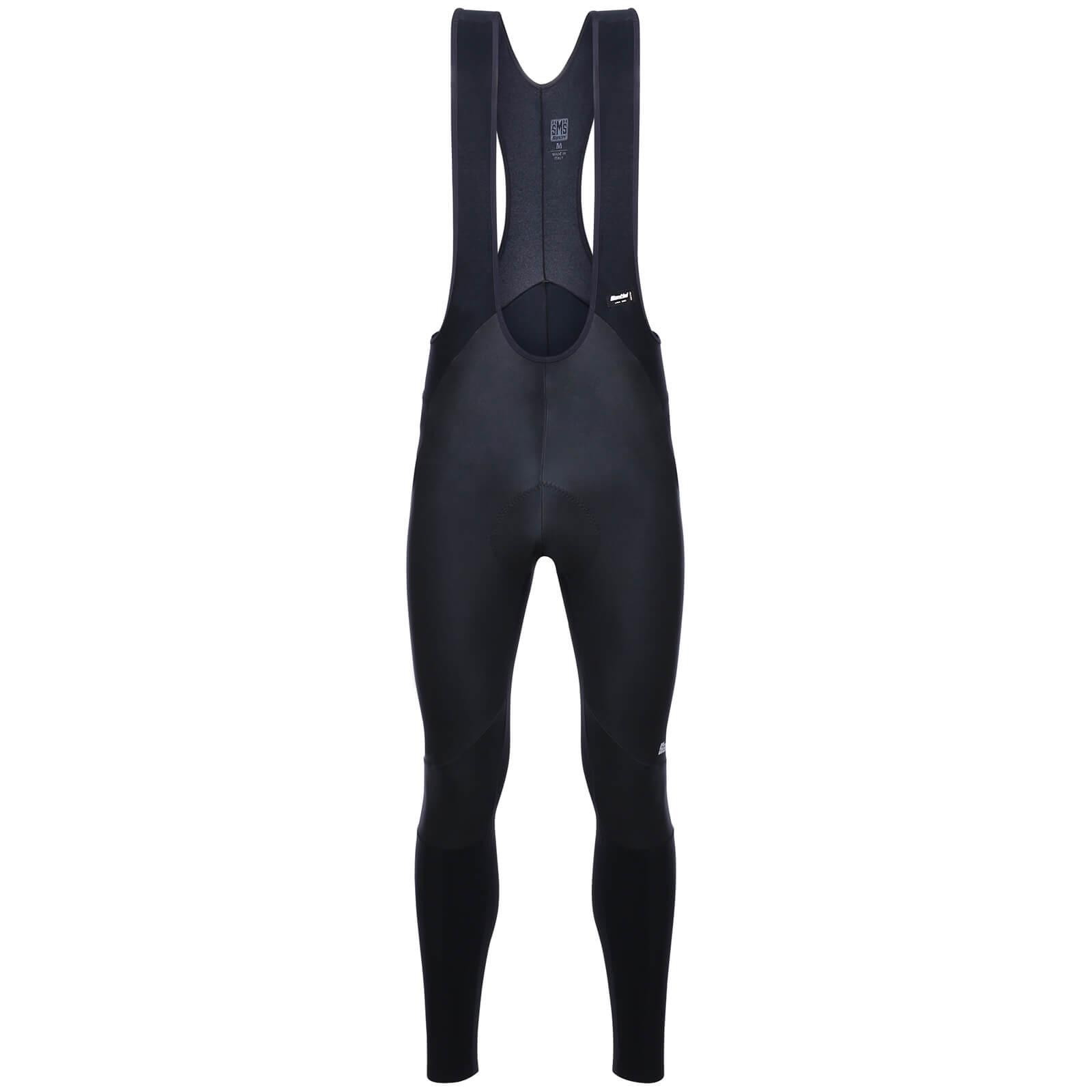 santini giove windstopper bib tights - black - xl - black